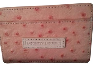 Dooney & Bourke Dooney & Bourke Pink Ostrich credit card business card holder