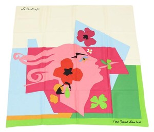 Saint Laurent Vintage Le Printemps Les Quatre Saisons Scarf