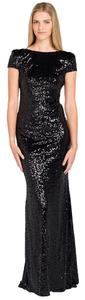 Badgley Mischka Sequin Long Evening Dress