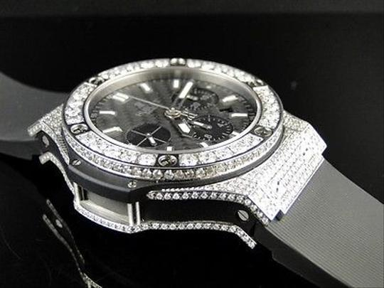 Hublot Mens Hublot Big Bang 44mm Evolution Rubber Band Diamond Watch Ct