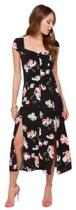 black with floral print Maxi Dress by MINKPINK