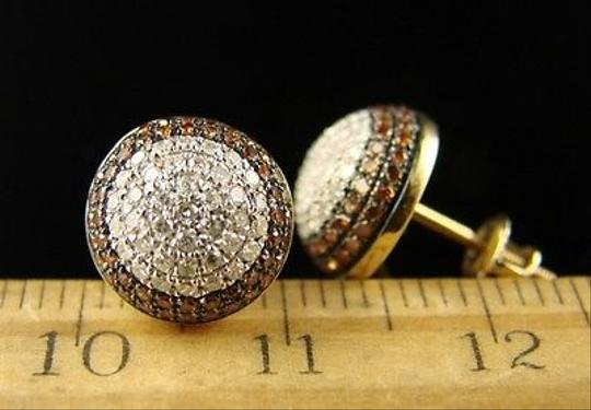 Other Mens,Ladies,Round,Dome,Redwhite,Diamond,Stud,Earrings,1.20,Ct