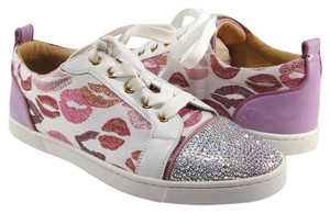 Christian Louboutin Gondolastrass Lipstick Sneakers 38.5 white Athletic