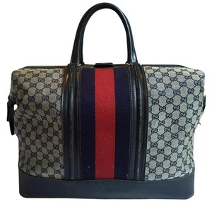 Gucci Boston Blue Travel Bag