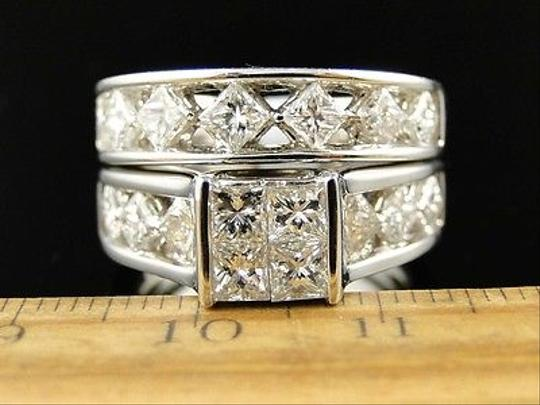 Other 14k,Womens,White,Gold,Princess,Cut,Bridal,Band,Diamond,Engagement,Ring,Set,3,Ct