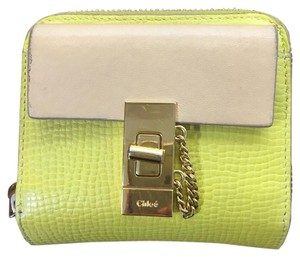 Chloé Wallet Drew Yellow/nude/Gold Clutch