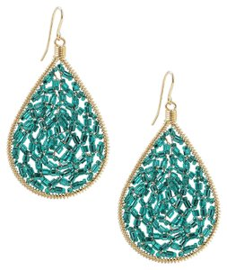 Handmade Beaded Teardrop Earrings