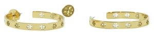 Tory Burch NEW TORY BURCH Pierced T Hoop Earrings, Gold