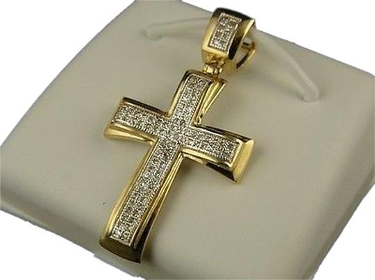 Other 10k,Mens,Ladies,Mini,Diamond,Cross,Charm,Pendant,.25,Ct