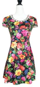 & Other Stories short dress black Floral Vintage on Tradesy