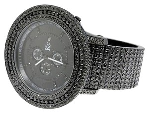 Mens 57 Mm Kcjoe Rodeo Techno Com All Black Simulated Diamond Watch