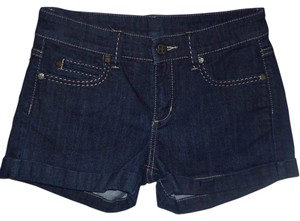 BCBGMAXAZRIA Cuffed Shorts Dark Wash
