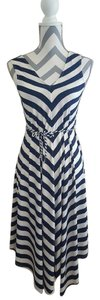 White Navy Maxi Dress by Lapis Pre-owned