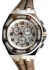 Mens Aqua Master Jojo Joe Rodeo Royal Oak Rose Diamond Watch 1.5 Ct Swiss
