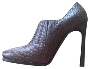 Lanvin Python Bootie Luxury Sophisticated Vintage brown Pumps