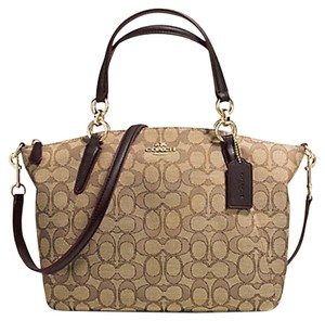 Coach Small Canvas Signature Satchel Cross Body Bag