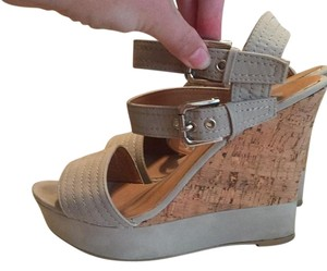 Cg shoes Taupe and cork Wedges