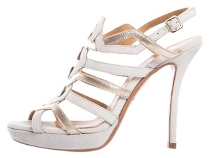 Bally Gray & Gold Sandals
