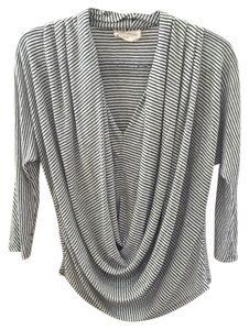 Alice + Olivia Top Black and gray