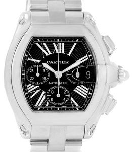 Cartier Cartier Roadster Chronograph Black Dial Mens Watch W62020X6 Box Papers