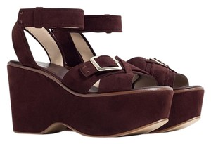 Zara Platform Brown Wedges
