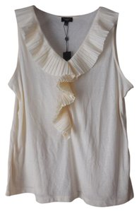 Talbots Petite Sleeveless T Shirt Cream
