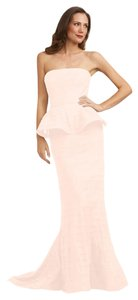 Adrianna Papell Peplum Gown Pleated Train Dress