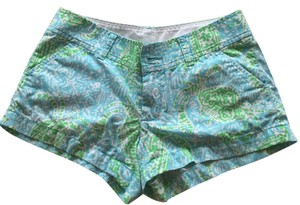 Lilly Pulitzer Mini/Short Shorts Light blue and green