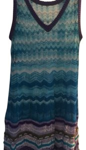 Missoni short dress Turq, purple, white on Tradesy
