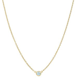 Other Diamonds by the Yard inspired CZ Yellow Gold Necklace