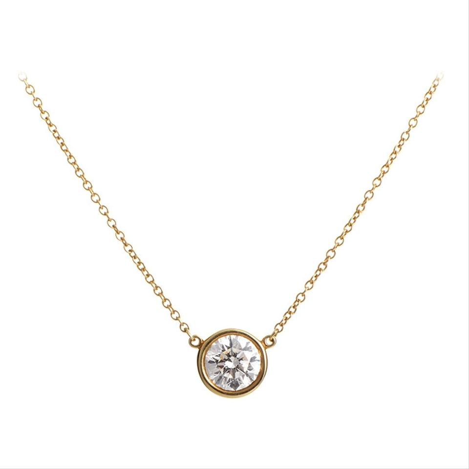 Gold Diamonds By The Yard Inspired Cz Yellow Necklace