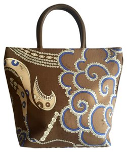 Emilio Pucci Multicolor Canvas Tote in Multi-Color