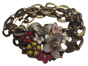 Juicy Couture Floral Chain Link Bracelet