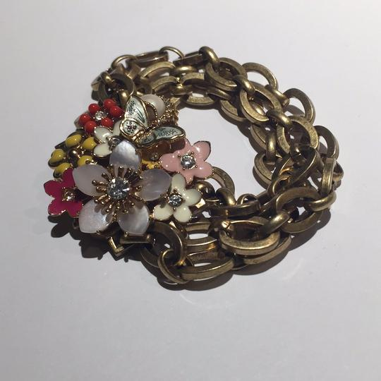 Juicy Couture Floral Chain Link Bracelet Image 1