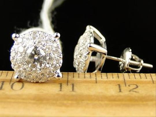 Other 14k,Unisex,Solitaire,Look,Diamond,Stud,Earrings,1,Ct