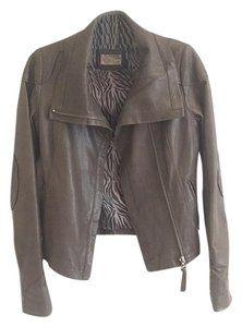Mackage Leather Gray Leather Jacket