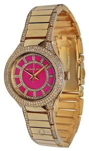 Michael Kors NEW WOMENS MICHAEL KORS (MK3442) KERRY PINK FACE GOLD TONE WATCH