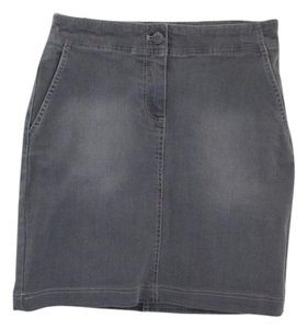 Talbots Mini Skirt Gray