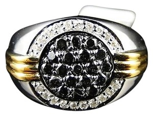 Other ,Mens,Two,Tone,Genuine,Round,Diamond,Designer,Fashion,Pinky,Ring,1.0,Ct