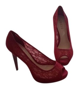 BCBGeneration Red lace Pumps