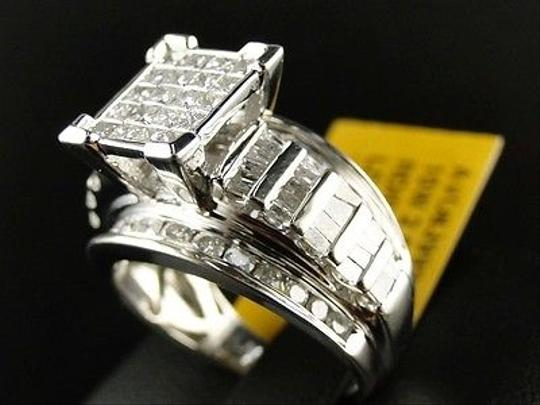 Other Ladies,Womens,White,Gold,Princess,Cut,Diamond,Bridal,Engagement,Ring,2.0,Ct