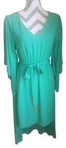 Other short dress Green Gold Summer High Low Flowy on Tradesy