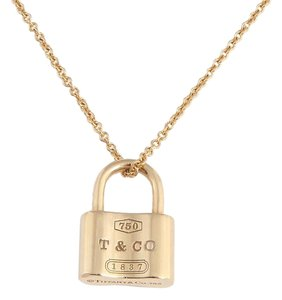 Tiffany & Co. 18K Gold 1837 Lock Charm Necklace