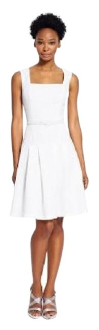 Adrianna Papell Ivory New Drop Waist Crepe Sleeveless Above Knee Short Casual Dress Size 12 (L) Adrianna Papell Ivory New Drop Waist Crepe Sleeveless Above Knee Short Casual Dress Size 12 (L) Image 1