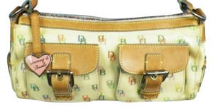 Dooney & Bourke Satchel in pale yellow and multi colored