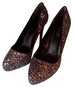 Charles by Charles David Pump Black and silver glitter finish Pumps