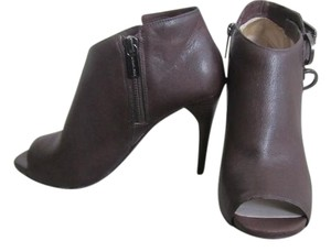 Michael Kors Leather Open Toe Brown Boots