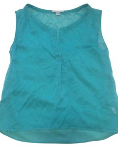 American Eagle Outfitters Sleeveless Sheer Small Top Blue