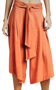 Free People Wide Leg Pants Washed Orange