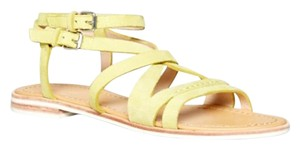 French Connection Lemon Yellow Sandals